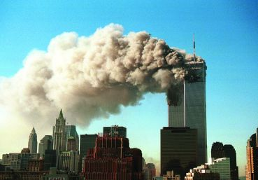 An image of the World Trade Center attacks.