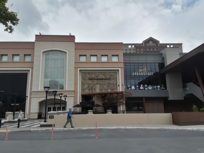Some retail and restaurant frontage at the Tysons Galleria mall in McLean, Va.