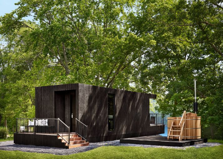 The modular Moliving units feature solar power, gray water recycling and holding tanks, and can be run off the grid if necessary.