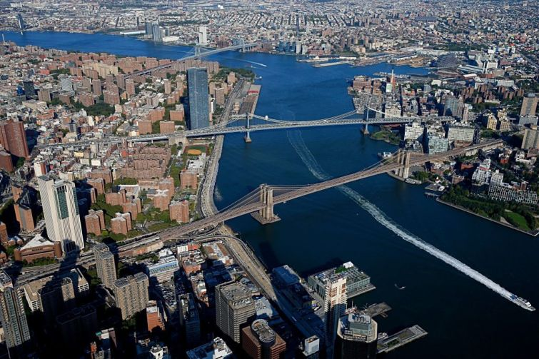 Aerial view of New York City