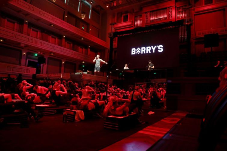 A Barry's workout class in Nashville.