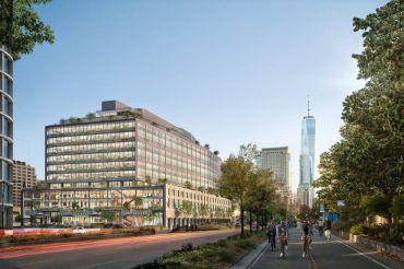 A rendering of the future Google hub at 550 Washington Street.