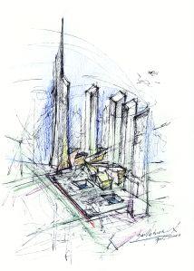 Masterplan Sketch c Daniel Libeskind 2 World Trade Center Poised to Get Underway With New Architect