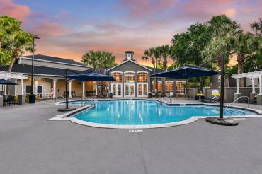 The pool area at The Summit at MetroWest.