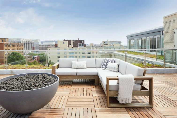 The Wray's rooftop lounge.