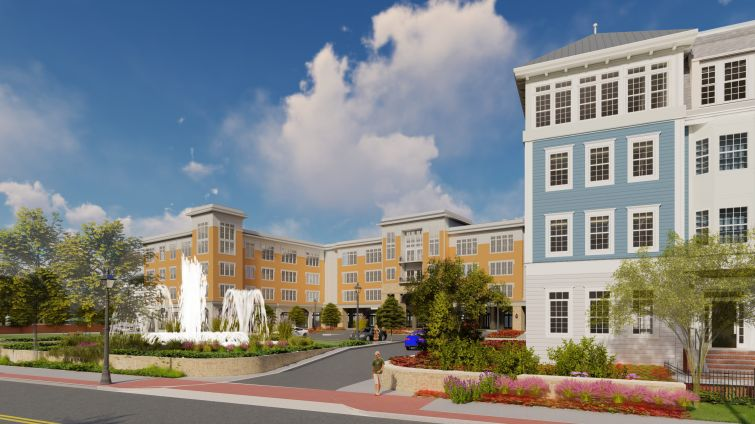 A rendering of the planned Bay Shore Residences in Bay Shore, Long Island.