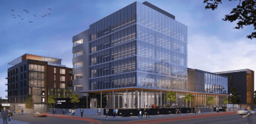 A rendering for City View Apartments in downtown Lansing, Mich.