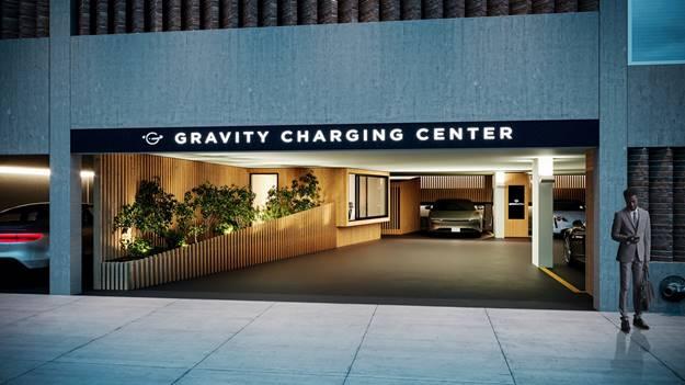A parking garage opening.