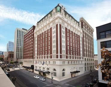 The Benson Hotel in Portland, which will soon be under the flag of Hilton's Curio Collection.