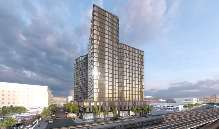 A rendering of BRP Companies' Archer Towers project.
