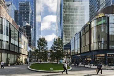 Brookfield hopes that public spaces, including a large plaza between West 31st and 33rd streets, will help integrate Manhattan West into an area of Midtown South once best-known for large trainyards.