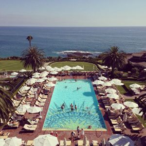 A shot of a pool area at Montage Laguna Beach.