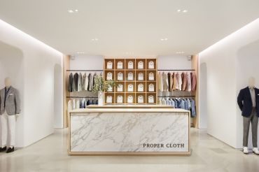 Fogarty Finger handled the design of the showroom for direct-to-consumer brand Proper Cloth.