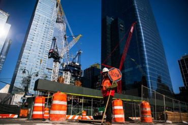 A slow recovery is predicted for New York City construction.