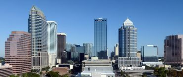 A view of the Tampa skyline.